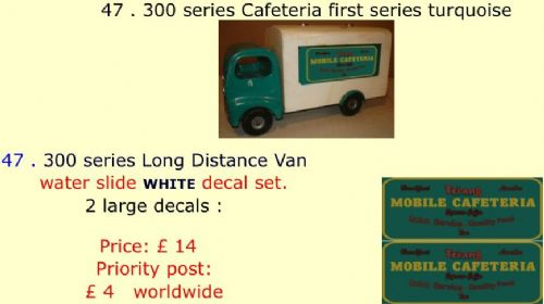 47 . Tri-ang 300 series Cafeteria first series turquoise